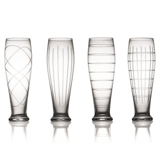 Medallion Pilsner Glasses (Set of 4)