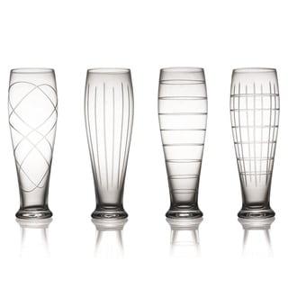 Medallion Pilsner Glasses (Set of 4)