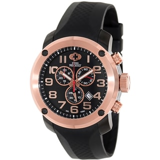 Swiss Precimax Men's Marauder Pro Sport SP13004 Black Rubber Black Dial Swiss Chronograph Watch