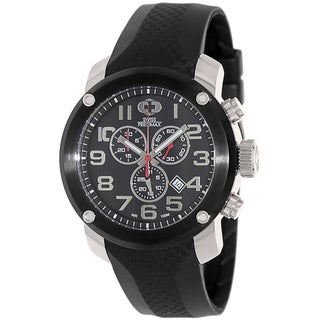 Swiss Precimax Men's Marauder Pro Sport SP13003 Black Rubber Black Dial Swiss Chronograph Watch
