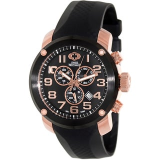 Swiss Precimax Men's Marauder Pro Sport Black Rubber Black Dial Swiss Chronograph Watch