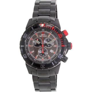 Swiss Precimax Men's 'Pursuit Pro' Black/ Grey Swiss Chronograph Watch