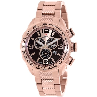 Swiss Precimax Men's Deep Blue Pro III SP13134 Rose-Gold Stainless Steel Rose Gold Dial Swiss Chronograph Watch