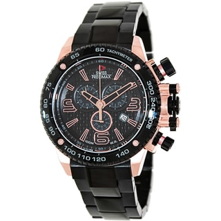 Swiss Precimax Men's Forge Pro SP13247 Black Stainless Steel Black Dial Swiss Chronograph Watch