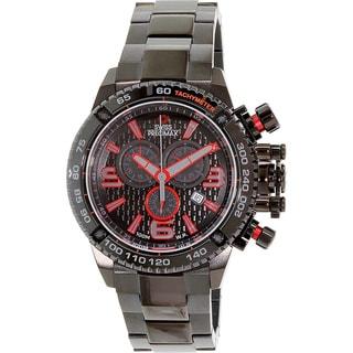 Swiss Precimax Men's 'Forge Pro' Black/ Red Swiss Chronograph Watch