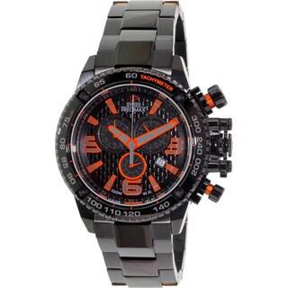 Swiss Precimax Men's 'Forge Pro' Black/ Orange Swiss Chronograph Watch