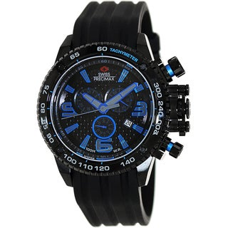 Swiss Precimax Men's 'Forge Pro Sport' Black/ Blue Swiss Chronograph Watch