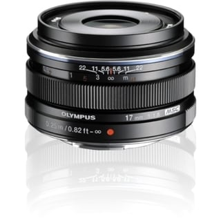 Olympus M.ZUIKO DIGITAL 17 mm f/1.8 Fixed Focal Length Lens for Micro