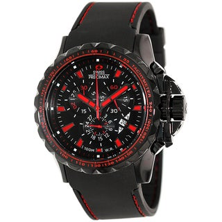 Swiss Precimax Men's 'Command Pro Sport' Black/ Red Dial Swiss Chronograph Watch