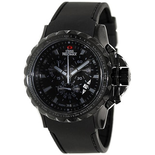 Swiss Precimax Men's 'Command Pro Sport' Black Dial Swiss Chronograph Watch