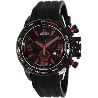 Swiss Precimax Men's 'Forge Pro Sport' Stainless Steel Black-dial Swiss Chronograph Watch
