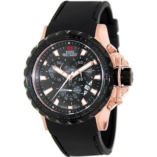 Swiss Precimax Men's 'Command Pro Sport' Rose Goldtone/ Black Swiss Chronograph Watch