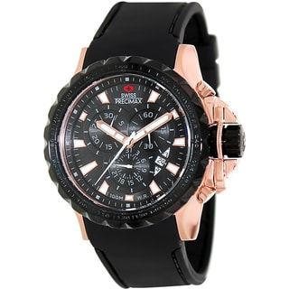Swiss Precimax Men's 'Command Pro Sport' Rose-goldtone/ Black Swiss Chronograph Watch