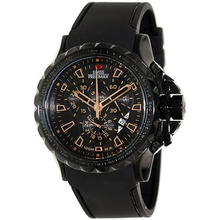 Swiss Precimax Men's 'Command Pro Sport' Black/ Brown Swiss Chronograph Watch