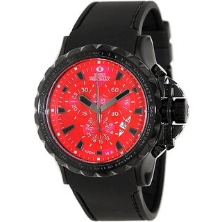 Swiss Precimax Men's 'Command Pro Sport' Black/ Red Swiss Chronograph Watch
