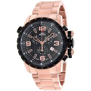 Swiss Precimax Men's 'Magnus Pro' Rose Goldtone Stainless Steel Swiss Chronograph Watch