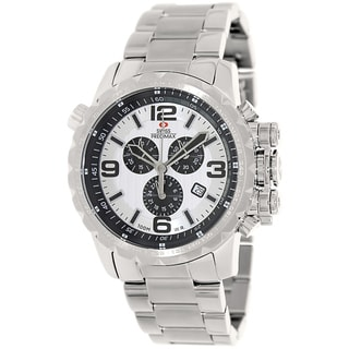 Swiss Precimax Men's 'Magnus Pro' Stainless Steel Swiss Chronograph Watch