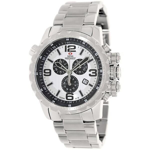 Swiss Precimax Men's 'Magnus Pro' Stainless Steel Swiss Chronograph Watch
