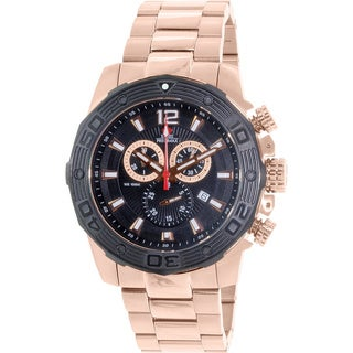 Swiss Precimax Men's 'Legion Reserve Pro' Rose Goldtone Swiss Chronograph Watch