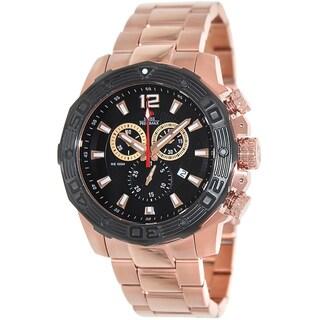 Swiss Precimax Men's 'Legion Reserve Pro' Rose Goldtone Swiss Chronograph Watch