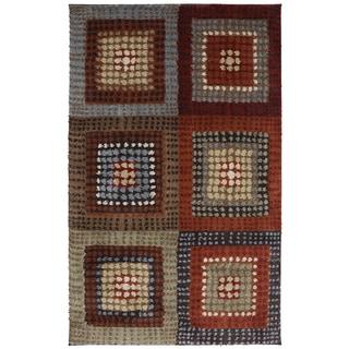 American Rug Craftsmen Shaggy Vibes Woodblock Hot Fudge Rug (10' x 14')