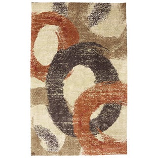 American Rug Craftsmen Shaggy Vibes Pigment Butter Cup Rug (3'4 x 5'6)