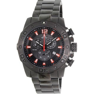Swiss Precimax Men's 'Legion Pro' Black Stainless Steel Swiss Chronograph Watch