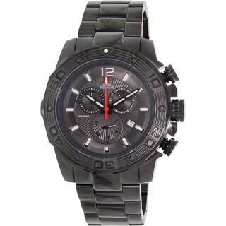 Swiss Precimax Men's 'Legion Pro' Black Dial Swiss Chronograph Stainless-Steel Watch