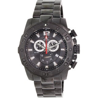 Swiss Precimax Men's 'Legion Pro' Black Dial Swiss Chronograph Watch