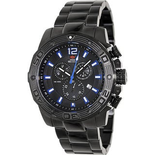 Swiss Precimax Men's 'Legion Pro' Black/ Blue Swiss Chronograph Watch