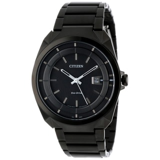 Citizen Eco-Drive Men's Black Stainless Steel Watch