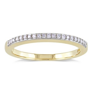 Miadora 10k Yellow Gold 1/10ct TDW Diamond Wedding Ring (H-I, I2-I3)