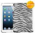 BasAcc Black Zebra Skin Diamante SmartSlim Case for Apple iPad Mini