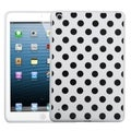 BasAcc Black Polka Dots/ White Candy Skin Case for Apple iPad Mini