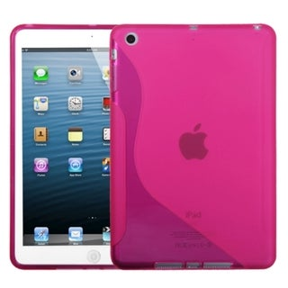 BasAcc Hot Pink S-Shape Candy Skin Case for Apple iPad Mini