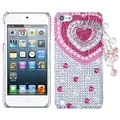 BasAcc Pink Heart Chain 3D Diamond Case for Apple iPod touch 5