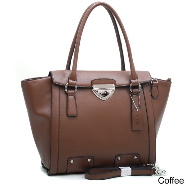 Dasein Wide Buckle-top Structured Tote