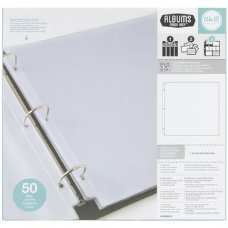 "Ring Page Protectors 12""X12"" 50/Pkg-"