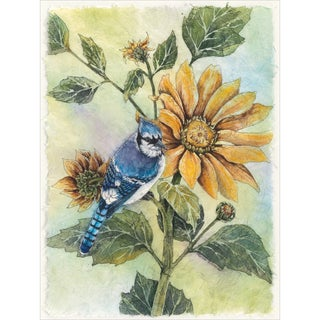 "Sunflower Bluejay Counted Cross Stitch Kit-9""X12"" 28 Count"