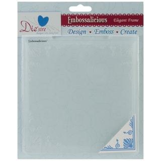 """Embossalicious Embossing Folders 6""""X6""""-Elegant Frame"""