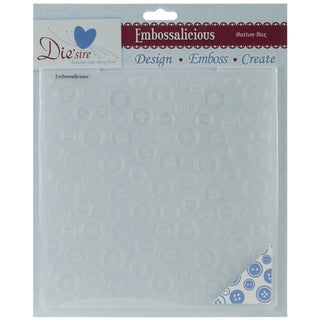 "Embossalicious Embossing Folders 8""X8""-Button Box"