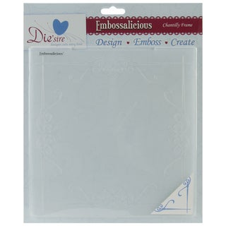 "Embossalicious Embossing Folders 8""X8""-Chantilly Frame"