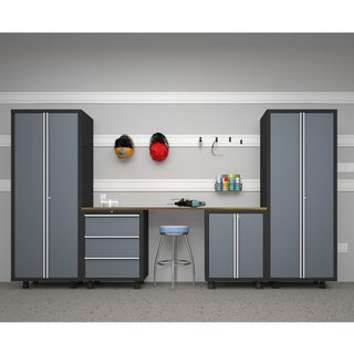 NewAge Products Bold Series 5-piece Grey Cabinet Set
