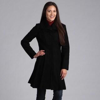 Velvet Heart Women's Pleated Wool Coat