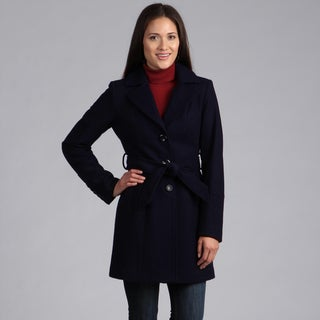 Velvet Heart Women's Belted Mix Media Coat
