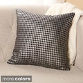 Metallic Houndstooth Small 18-inch Decorative Pillows (Set of 2)