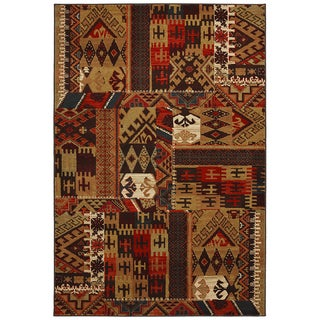 American Rug Craftsmen Madison Louis and Clark Bark Brown Rug (8' x 11')