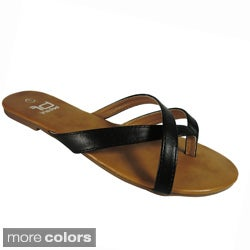 Betani by Beston Women's '605' Flat Flip-flop Sandals