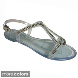 Betani by Beston Women's 'ISABELLA-2' T-strap Sandals