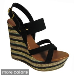 Betani by Beston Women's 'LISA-1' Platform Wedge Sandals